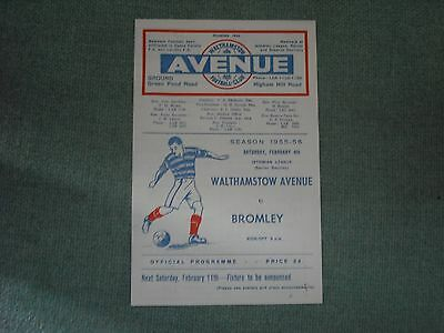 Walthamstow Avenue  V  Bromley  (Ilss)  4-2-56  Four Pager