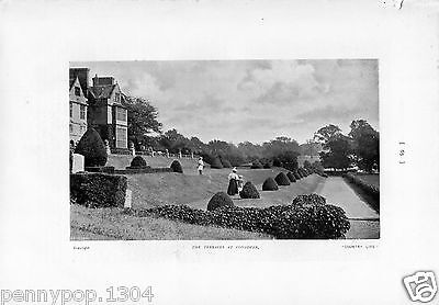 Condover Hall, Shropshire, The Terraces, People  * Vintage View *hudson & Kearns
