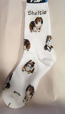 4Bare Adult Size SHELTIE SHETLAND SHEEPDOG Poses Socks size Medium 6-11