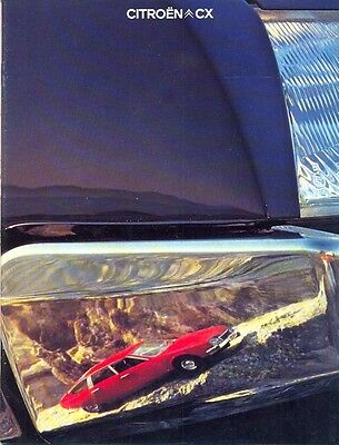 CITROEN CX range 1978 Swiss Market French text full colour Sales Brochure