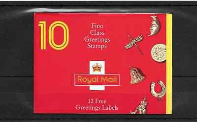 GB 1991 Greetings Stamps Barcode Booklet - KX 2