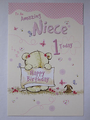 Wonderful Colourful To An Amazing Niece 1 Today 1St Birthday Greeting Card