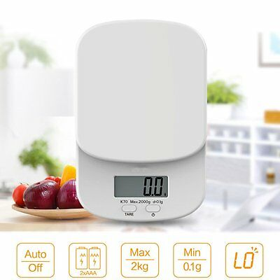 2kg/0.1g LCD Digital Kitchen Food Diet Postal Scale Weight Balance Electronic