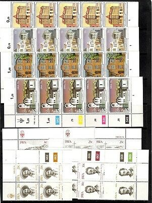 South West Africa   - 2 sets  - blocks of 4/strips of 5 - MNH