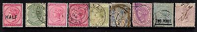 Natal - QV 1874/1877 issues MM/Used inc SG 85 (cat £40) + revenue issue