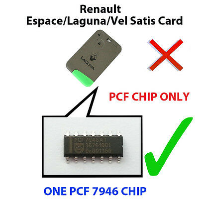 Renault Espace  Laguna Vel Satis New Pcf Chip7947 Loaded Key Fob Remote Pcf Chip