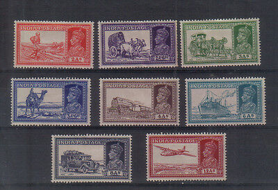 India George VI 1937-40 Eight values to 12a mounted mint