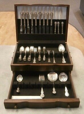 Towle Sterling Flatware French Provincial Set in Wood Box  See Listing!