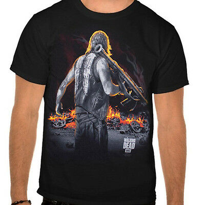 The Walking Dead Daryl Dixon Standing Bazooka One Sided Adult T Tee Shirt 09-824