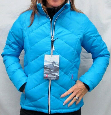 $400 Gerbing Womens Ice Blue Puffer Battery Heated Jacket Ladies Coat Size XS