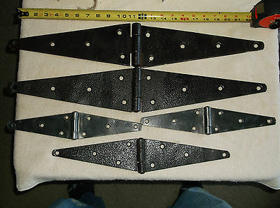5- Vintage Collectible Hinges Barn Door Gate Hinges