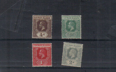 Cayman Islands George V 1912-20 set to 2d very lightly mounted mint