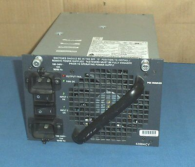 Cisco PWR-C45-4200ACV Catalyst 4500 Series Dual Input AC Power Supply 4200ACV