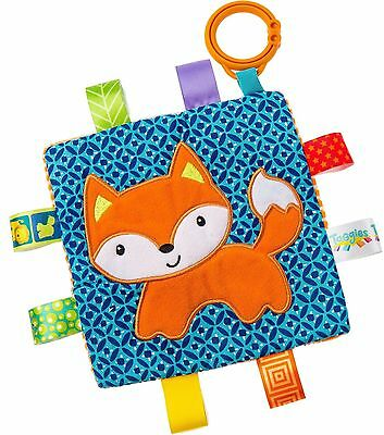 Taggies CRINKLE FOX Colourful Crinkle Soother Buggy/Stroller Toy Baby BN