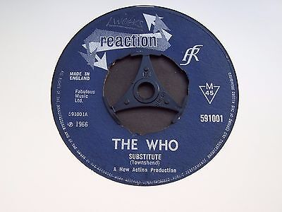 The Who, Substitute / Instant Party. Original 1966 Reaction Single