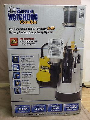 The Basement Watchdog Combo DFK961 Pre-Assembled 1/3 HP Primary Plus Battery Bac