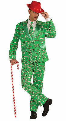 Adult Candy Cane Suit & Tie Christmas Costume