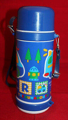 Sanrio Japan The Runabouts Skater Plastic Water Bottle Suitou Blue Strap Vintag