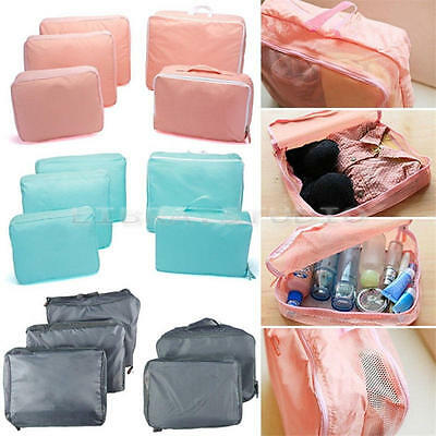 5 Pcs Set Travel Storage Bags Waterproof Clothes Packing Cube Luggage Organizer