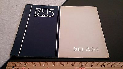 1934 1935 DELAGE D8.15 - Prestige Colored Dealer Sales Brochure - Fr/En - Good