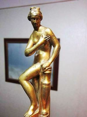 ANTIQUE BRONZE Miniature statue Art Deco Nude Goddess Figurine, Statuette 19th