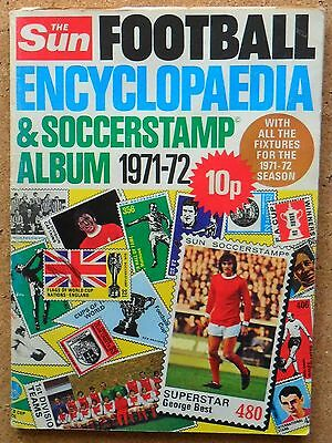 The Sun 1971-72 Football Encyclopaedia & Soccerstamp Album Unused