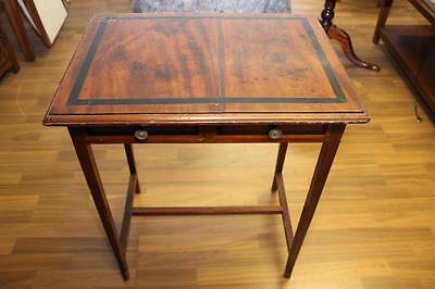 Superb Original Georgian Side Table with Ebony Inlay and 2 Drawers