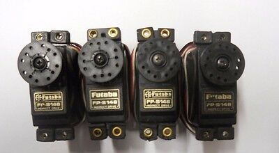 Futaba Fp-S148 Standard Servos Quantity 4 With Horns And Mounts