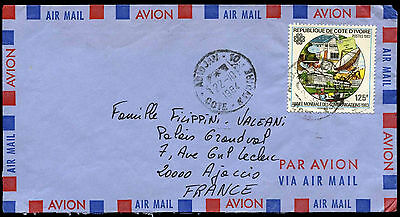 Ivory Coast 1984 Air Mail Cover To France #C38664