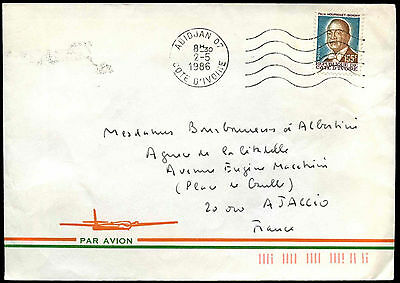 Ivory Coast 1986 Air Mail Cover To France #C38665