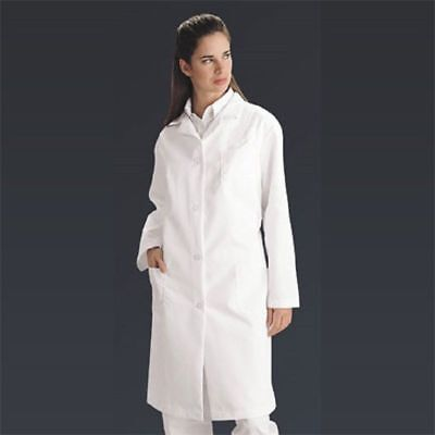 Ladies Full Length Lab Coat XL Button Front 3 Pockets 80% polyester/20% cotton