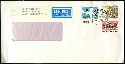 Denmark 1984 Commercial Air Mail Cover #C38774