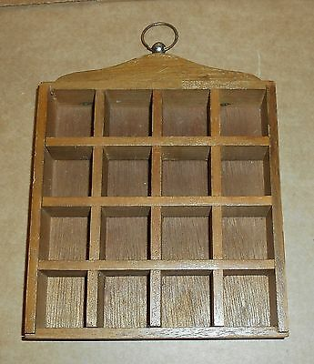 Wall Hanging Wooden Thimble Rack