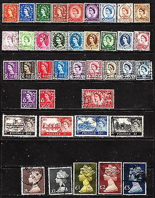 Great Britain - Queen Elizabeth Definitives  Used See Scan