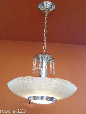 Vintage Lighting four matching Mid Century Modern chandeliers