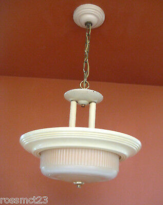 Vintage Lighting 1930s Moderne chandelier by Markel