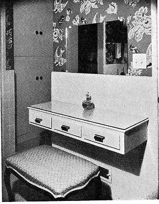 Make Build Dressing Table Wall Mounted No Leg Vanity Dresser Furniture #91