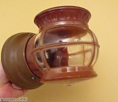 Vintage 1950 mid century Porch Light by Porcelier. More available