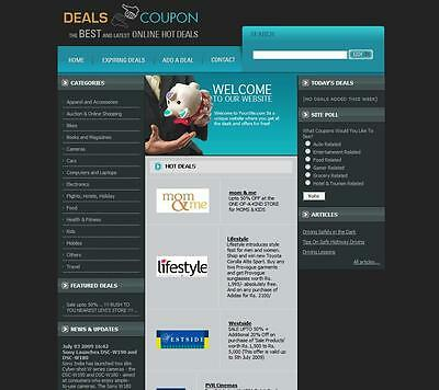 Daily Deals and COUPONS. Established Business Website for Sale. Online Earnings.