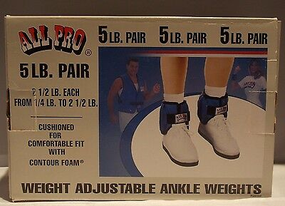 All Pro Adjustable Ankle Weights-Up To 2 1/2 Lbs. Per Weight-Gently Used