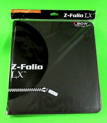 Zipper Portfolio, Black Gaming Z-Folio 12-Pocket Lx Album, Holds 480 Cards