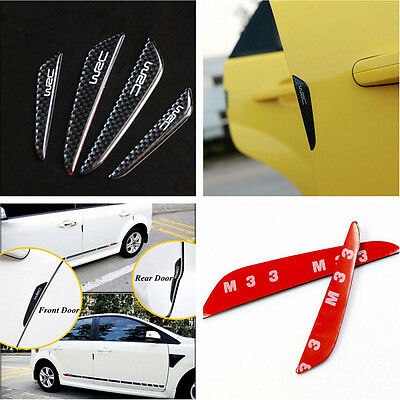 4x Car Door Edge Guards Trim Molding Protection Strip Scratch Protector Anti-rub