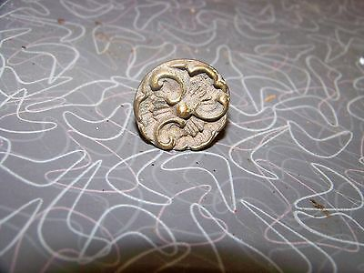 Antique Round Brass Ornate Drawer Pull Handle I