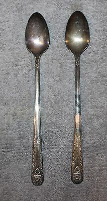 Antique Madison Silver Plate Long Ice Tea Spoons Lot Of  Pandora Pattern