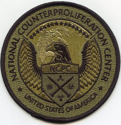 NATIONAL COUNTERPROLIFERATION CENTER Nuclear Weapons green MILITARY POLICE PATCH