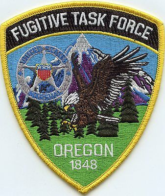 UNITED STATES MARSHAL OREGON OR FUGITIVE TASK FORCE colorful POLICE PATCH