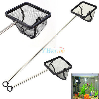 Adjustable Square Aquarium Shrimp Tetra Fish Tank Net Extendable Handle 20-40cm