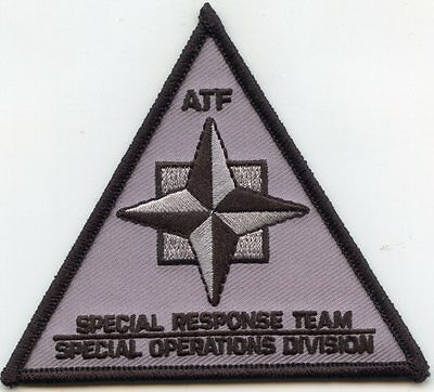 ATF SPECIAL RESPONSE TEAM - SPECIAL OPERATIONS DIVISION gray SWAT POLICE PATCH