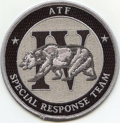 ATF SPECIAL RESPONSE TEAM SRT SWAT subdued gray POLICE PATCH