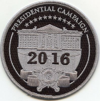 USSS 2016 PRESIDENTIAL CAMPAIGN WASHINGTON DC subdued gray POLICE PATCH
